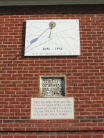 Sundial at Philipot's Almshouse, Eltham